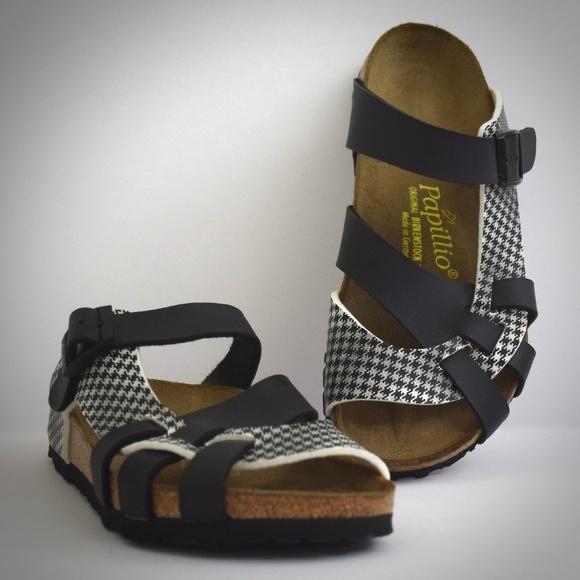 351e835134dd Birkenstock Shoes - Papillio Pisa Birkenstock Sandals 38 Houndstooth